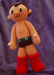 Astro Boy gets the amigurumi crochet treatment