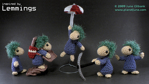 Free Lemmings Amigurumi crochet pattern