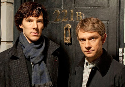 Sherlock - Benedict Cumerbatch and Martin Freeman