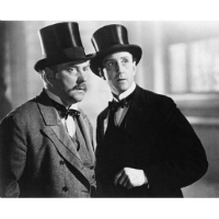 Nigel Bruce and Basil Rathbone as Holmes and Watson