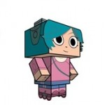 Free Scott Pilgrim Cube Craft from CubeeCraft