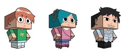 Free Scott Pilgrim Cube Craft from CubeeCraft