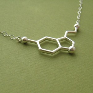 seretonin molecule happy