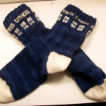 Free TARDIS socks knitting pattern