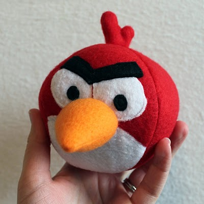 Free Angry Birds Plush Pattern by Obsessively Stitching