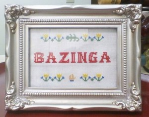 Big Bang Theory Bazinga Cross Stitch on craftster
