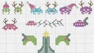SPace Invader Cross Stitch Pattern via Sprite Stitch