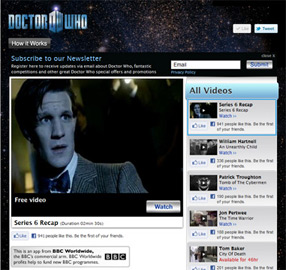 Watch Doctor Who on Facebook! The Future Is Now!