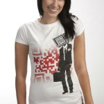 Quirky Retailing: QR T-shirt for full frontal geekery