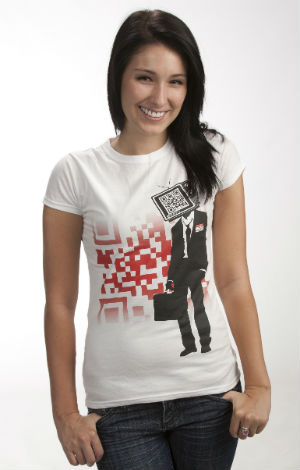 T-shirt with QR code