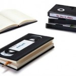 VHS Tape Notebooks: two obsolete media combined!