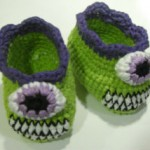 Futurama baby booties pattern