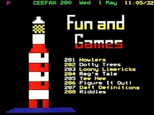 Fun and games on Ceefax