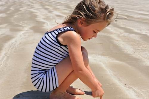 UV Swimwear: Little Red Fish does retro bathers for children