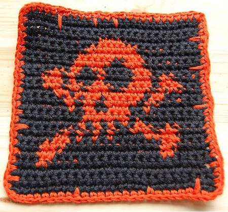 Free Jolly Roger Skull And Crossbone Crochet And Knitting Pattern