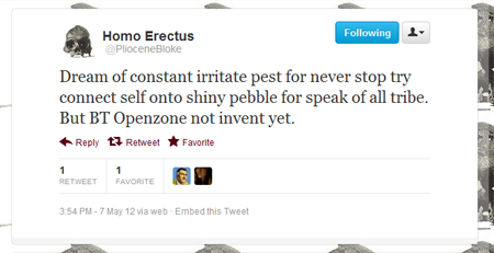 Homo Erectus @PlioceneBloke Twitter