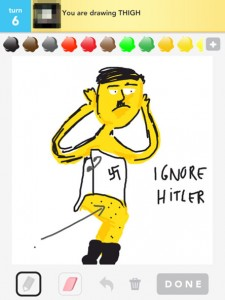 Ignore Hitler on Draw Something, guess 'thigh'