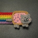 Free crochet pattern: Nyan Cat Bookmark (hair band?)