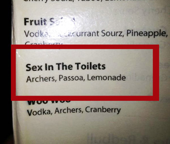 Sex in the Toilets Classy Cocktail