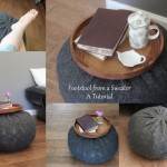 How to: Make a footstool out of an old jumper