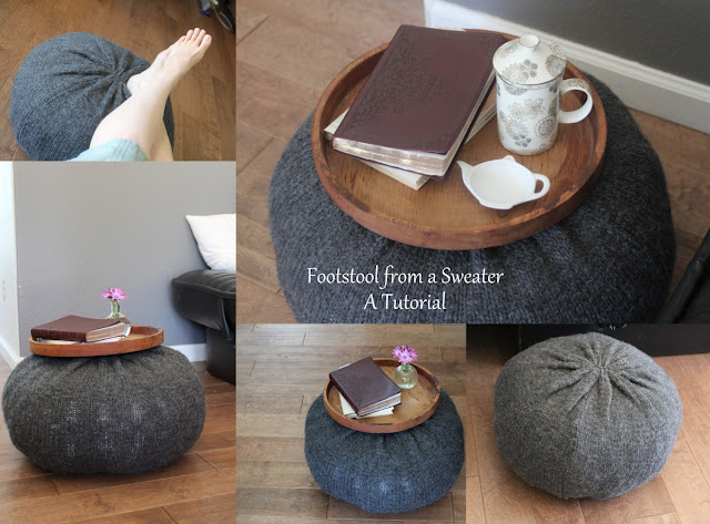 Footstool sweater tutorial