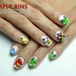 Nail Art Angry Birds Again 04
