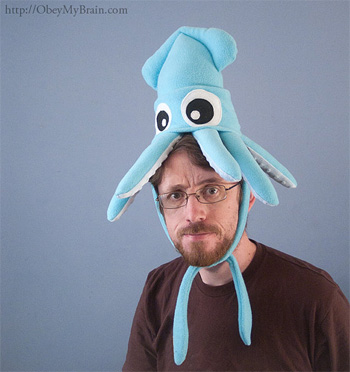 Squid Hat by Obey My Brain on Etsy
