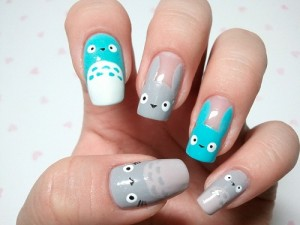 Totoro Nail Art 3