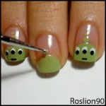 Toy Story Alien Nail Art