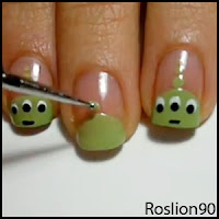 Geek Nail Art: Toy Story Alien tutorial