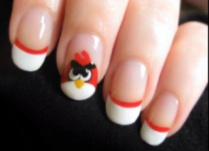 Geek Nail Art: Angry Birds Tutorial