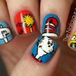 Geek Nail Art: Cat in the Hat How-to
