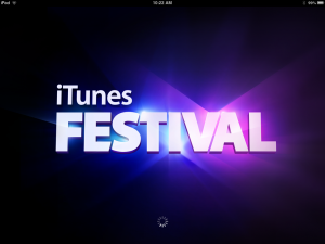 Screenshot of the iTunes Festival iPad app
