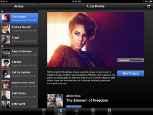 a-z of artists, Alicia Keys, iTunes Festival.