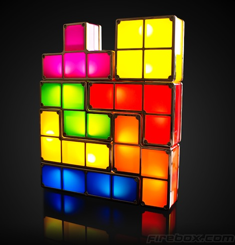 Tetris Light: Stackable table lamp for gaming nerds