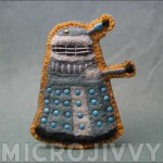 Free Pattern: Dalek Felt Badge