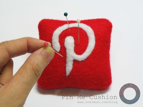 Pinterest Pin Me Cushion Free Pattern from Onelmon