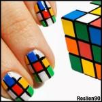 rubik Nail art