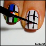 Geek Nail Art: Rubik's Cube Tutorial