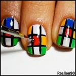 rubik nail art 3