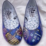 Custom painted Doctor Who pumps.