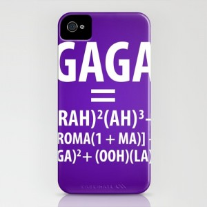 Lady Gaga Bad Romance equation iPhone case