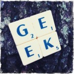 Geek Scrabble Brooch