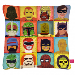 Heroes and Villains cushion
