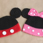Mickey & Minnie Crochet Hats