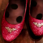 Sparkly Wonder Woman shoes