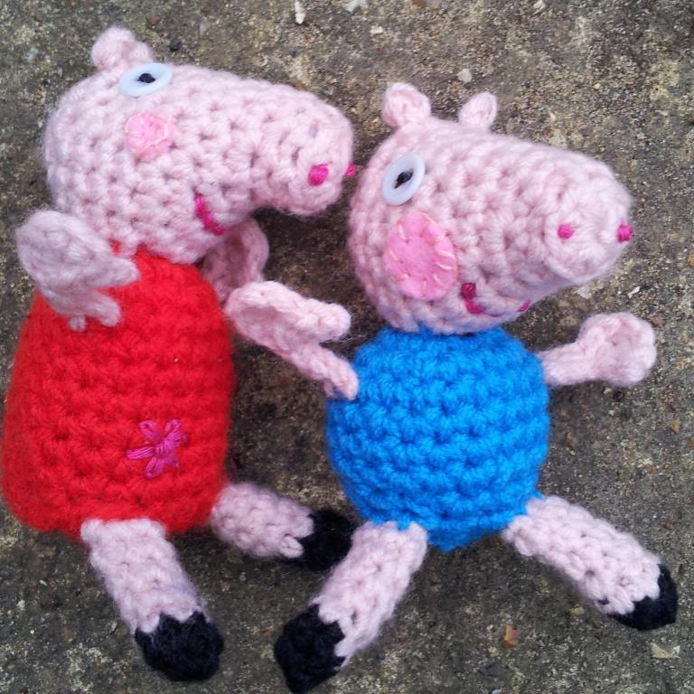 George And Peppa Pig Crochet Pattern 1