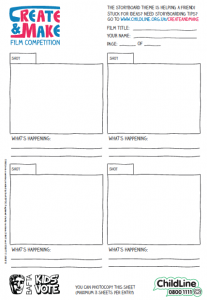 How to make your own film storyboard