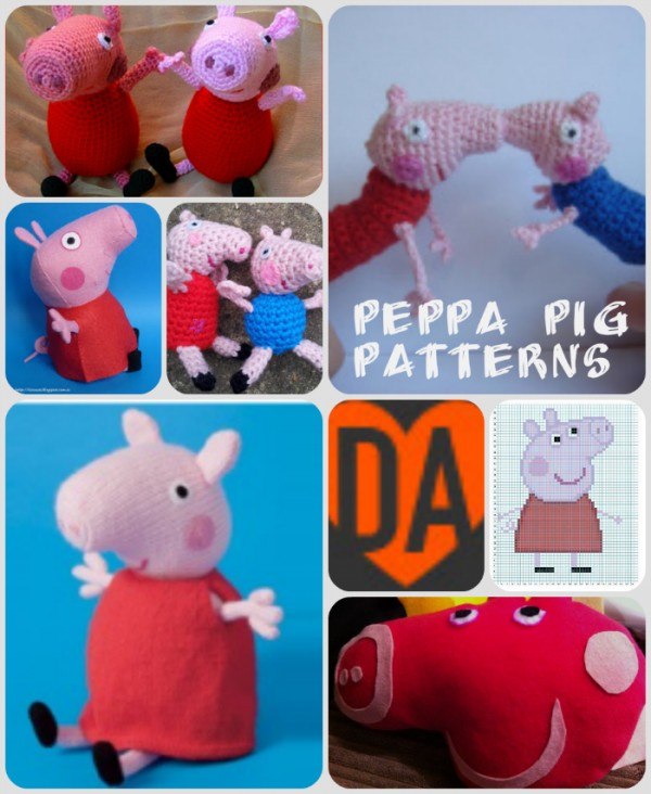 PATTERN knit pig crochet toy amigurumi pig tutorial knitted toy ... | 732x600