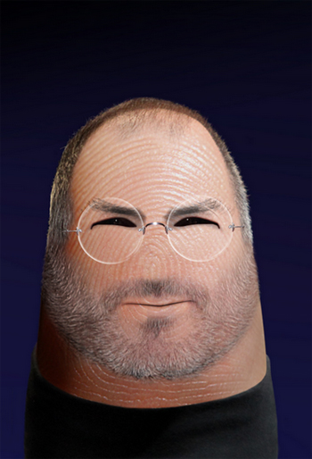 Steve Jobs Thumb Drawing
